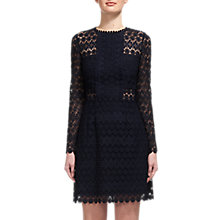 Buy Whistles Emma Circle Lace Dress, Navy Online at johnlewis.com