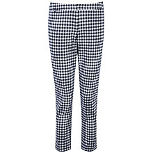Buy Pure Collection Hayleigh Capri Trousers, Navy Gingham Online at johnlewis.com