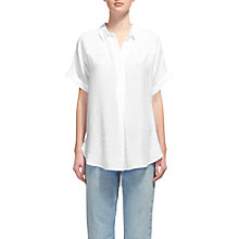 Buy Whistles Ellen Casual Shirt, White Online at johnlewis.com