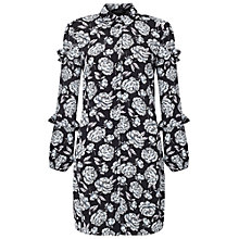 Buy Miss Selfridge Rose Ruffle Shirt Dress, Multi Online at johnlewis.com