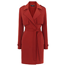Buy Karen Millen Soft Unstructured Trench Coat, Tan Online at johnlewis.com