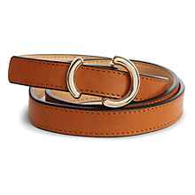 Buy Karen Millen Ring Skinny Belt, Tan Online at johnlewis.com