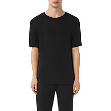Buy AllSaints Occupy Short Sleeve Crew T-Shirt, Black Online at johnlewis.com