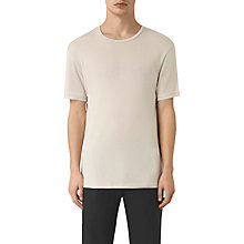 Buy AllSaints Occupy Short Sleeve Crew T-Shirt, Ash Grey Online at johnlewis.com
