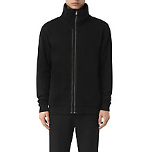 Buy AllSaints Double Funnel Neck Full Zip Sweatshirt, Jet Black Online at johnlewis.com