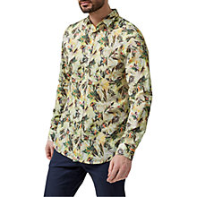 Buy Selected Homme Floral Printed Shirt, Marshmallow/Green Online at johnlewis.com