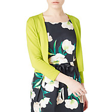 Buy Precis Petite Mabel Cropped Cardigan, Mid Yellow Online at johnlewis.com