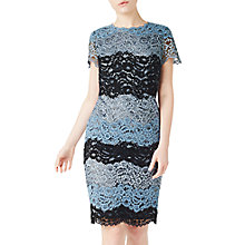 Buy Precis Petite Cady Stripe Lace Dress, Multi Online at johnlewis.com