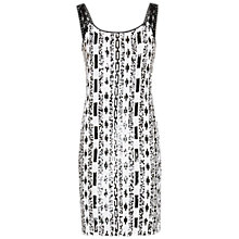 Buy Gina Bacconi Monochrome Sequin Dress, Black/White Online at johnlewis.com