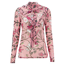 Buy Finery Rosecroft Virginia Bellflower Printed Mesh Top, Pink Online at johnlewis.com