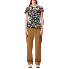 Buy Finery Daintry Garden Floral Print Short Sleeve Lace Top, Multi Online at johnlewis.com