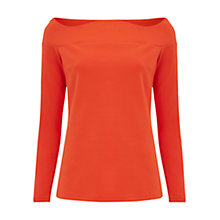 Buy Finery Acre Scallop Off-Shoulder Jersey Top, Clementine Online at johnlewis.com