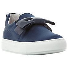 Buy Dune Black Entrance Bow Flatform Trainers Online at johnlewis.com