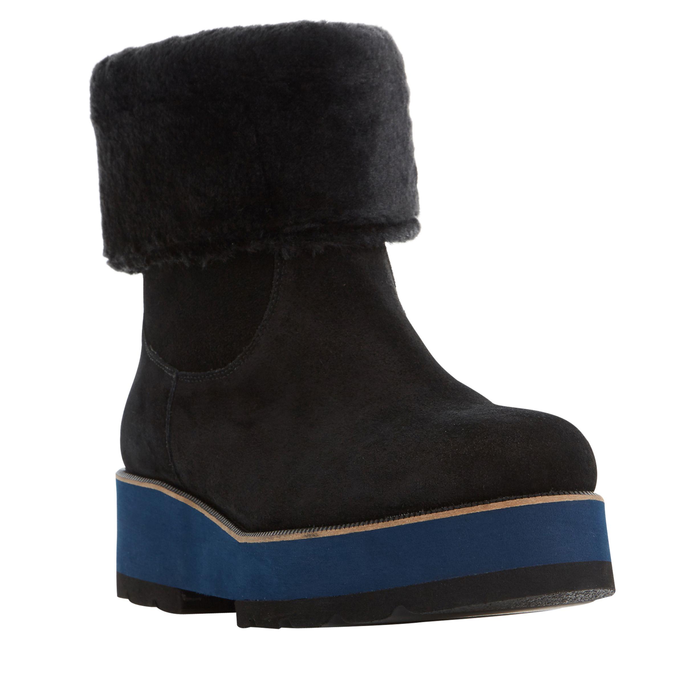 Dune Black Dune Black Rome Flatform Ankle Boots