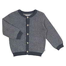 Buy Wheat Baby Kasper Cardigan, Grey/Blue Online at johnlewis.com