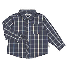 Buy Wheat Baby Olof Check Cotton Shirt, Grey/Multi Online at johnlewis.com