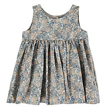 Buy Wheat Baby Mille Floral Print Pinafore Dress, Grey Online at johnlewis.com