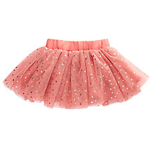 Buy Wheat Baby Glitter Tulle Skirt, Rosette Pink Online at johnlewis.com
