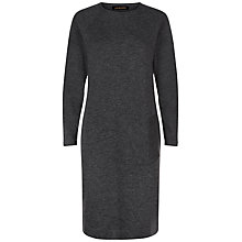 Buy Jaeger Felted Angled Pocket Dress, Multi Grey Online at johnlewis.com