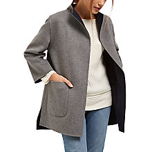 Buy Jaeger Reversible Wool Coat, Navy/Grey Online at johnlewis.com