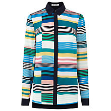 Buy L.K. Bennett Imogen Printed Silk Blouse, Multi Online at johnlewis.com