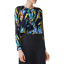 Buy L.K. Bennett Silk Desiree Floaty Blouse, Multi Online at johnlewis.com