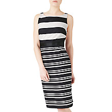 Buy Precis Petite Josie Stripe Shift Dress, Black/White Online at johnlewis.com