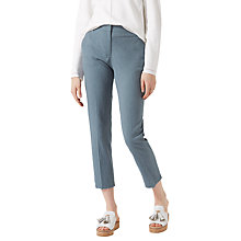 Buy Jigsaw Seersucker Portofino Trousers, Chambray Online at johnlewis.com