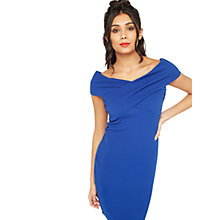 Buy Miss Selfridge Cross Neck Bodycon Dress Online at johnlewis.com