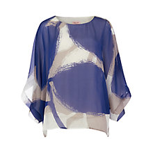 Buy Phase Eight Esmerelda Silk Blouse, Grey/Blue Online at johnlewis.com