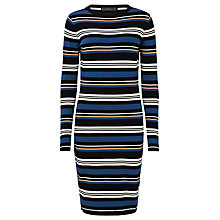 Buy Sugarhill Boutique Zoe Stripe Knitted Dress, Navy/Multi Online at johnlewis.com