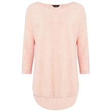Buy Phase Eight Megg Curve Hem Jumper, Soft Pink Online at johnlewis.com