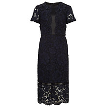 Buy Phase Eight Darena Lace Dress, Navy Online at johnlewis.com