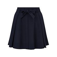 Buy Miss Selfridge Flippy Belted Skirt, Navy Online at johnlewis.com