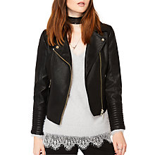 Buy Miss Selfridge Petite Lola Jacket, Black Online at johnlewis.com