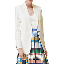 Buy L.K. Bennett Blythe Single Breasted Jacket, Cream Online at johnlewis.com