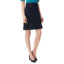 Buy L.K. Bennett Bay Button Detail Skirt, Navy Online at johnlewis.com