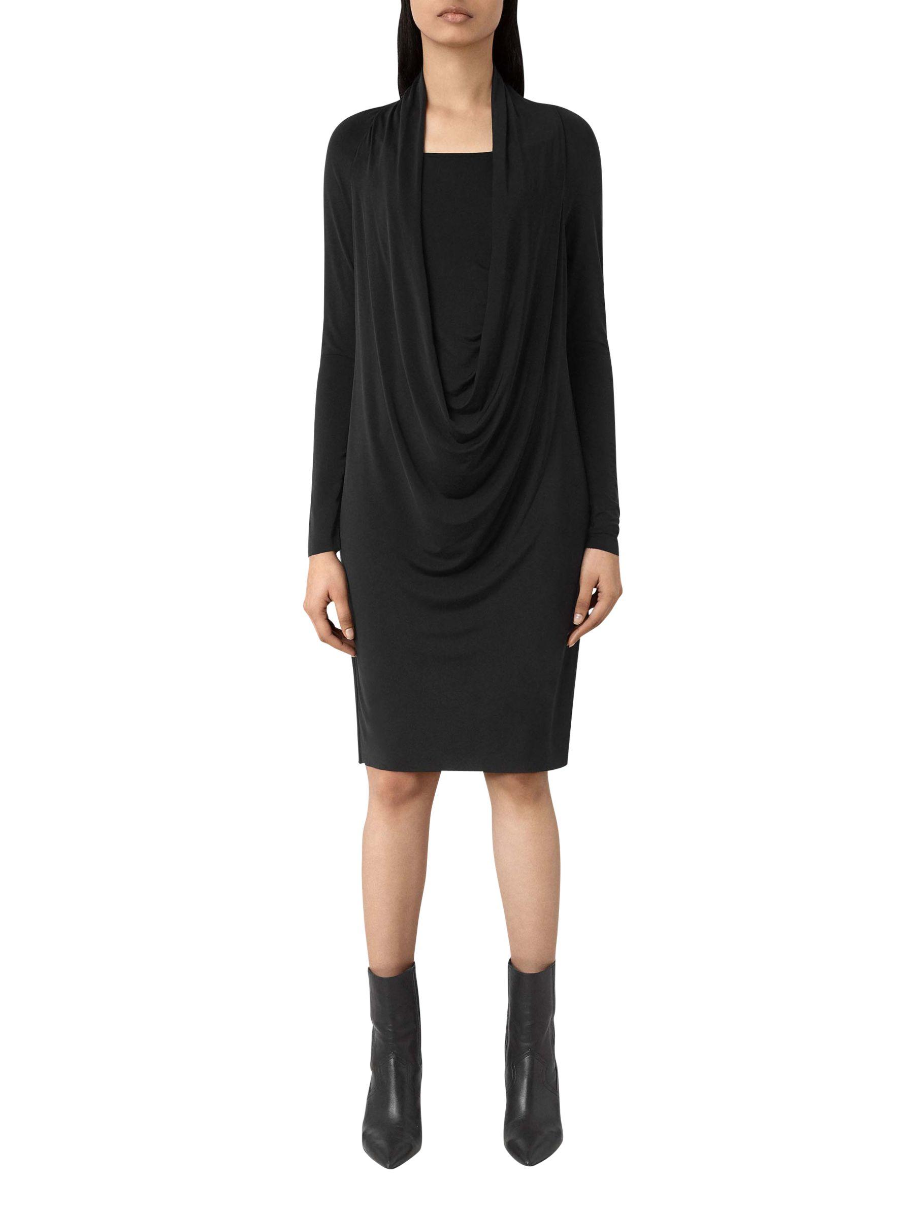 AllSaints AllSaints Invi Dress, Black