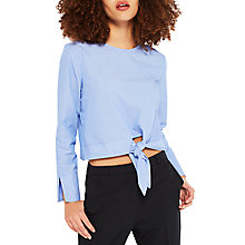 Buy Miss Selfridge Petite Tie Front Top, Multi Online at johnlewis.com