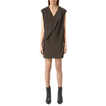 Buy AllSaints Aures Dress,  Anthracite Grey Online at johnlewis.com