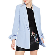 Buy Miss Selfridge Bow Sleeve Blazer, Blue Online at johnlewis.com