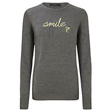 Buy Sugarhill Boutique Nita Smile Embroidery Jumper, Grey/Yellow Online at johnlewis.com