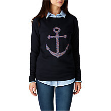 Buy Sugarhill Boutique Floral Anchor Sweatshirt, Navy Online at johnlewis.com