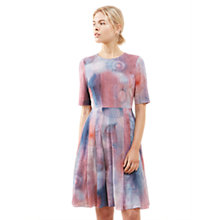 Buy Jigsaw Spirograph Print Dress, Pink Ash Online at johnlewis.com