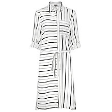 Buy Phase Eight Naia Stripe Shirt Dress, Ivory/Black Online at johnlewis.com