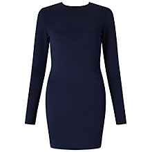 Buy Miss Selfridge Petite Ribbed Bodycon Dress, Blue Online at johnlewis.com