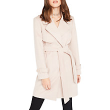 Buy Miss Selfridge Petite Wrap Coat, Pink Online at johnlewis.com