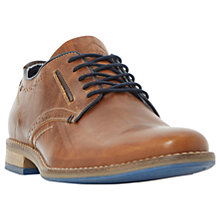 Buy Dune Piped Derby Shoes, Tan Online at johnlewis.com
