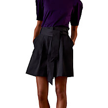 Buy Finery Carrington Structured High Waist Shorts, Navy Online at johnlewis.com