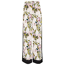 Buy Finery Argent Contrast Panel Floral Print Trousers, Lilac Vines Print Online at johnlewis.com